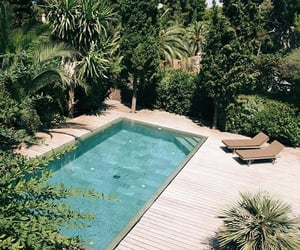 pool, summer, and home image
