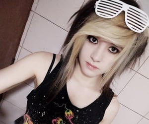blonde, dyed hair, and style image