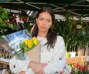 cindy kimberly, wolfiecindy, and flowers image