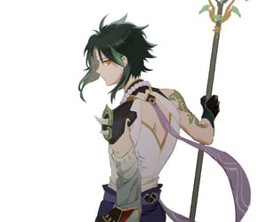 otoko, knight, and staff image