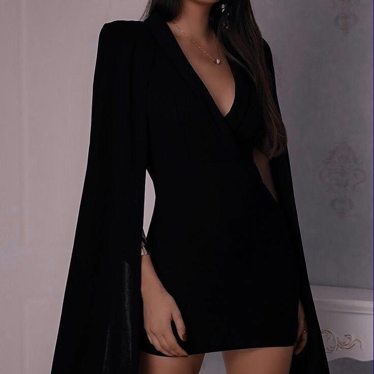 dress, black, and aesthetic image