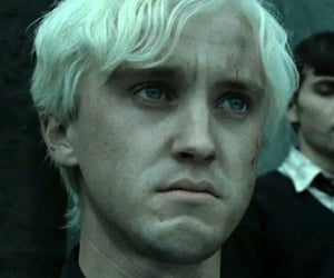 deathly hallows, draco malfoy, and green image