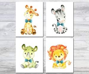 etsy, watercolor print, and safari print image
