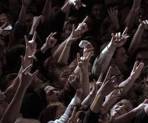 chaotic, crowd, and music image