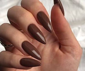 aesthetic, brown, and nails image