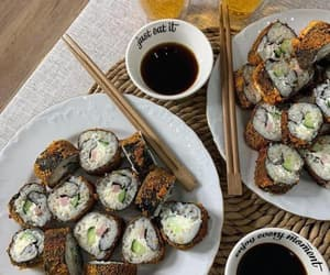 aesthetic, food, and sushi image