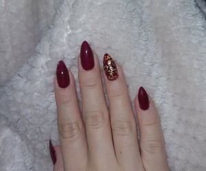 gold, nails, and manicure image