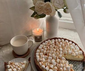 marshmallow, cake, and dessert image