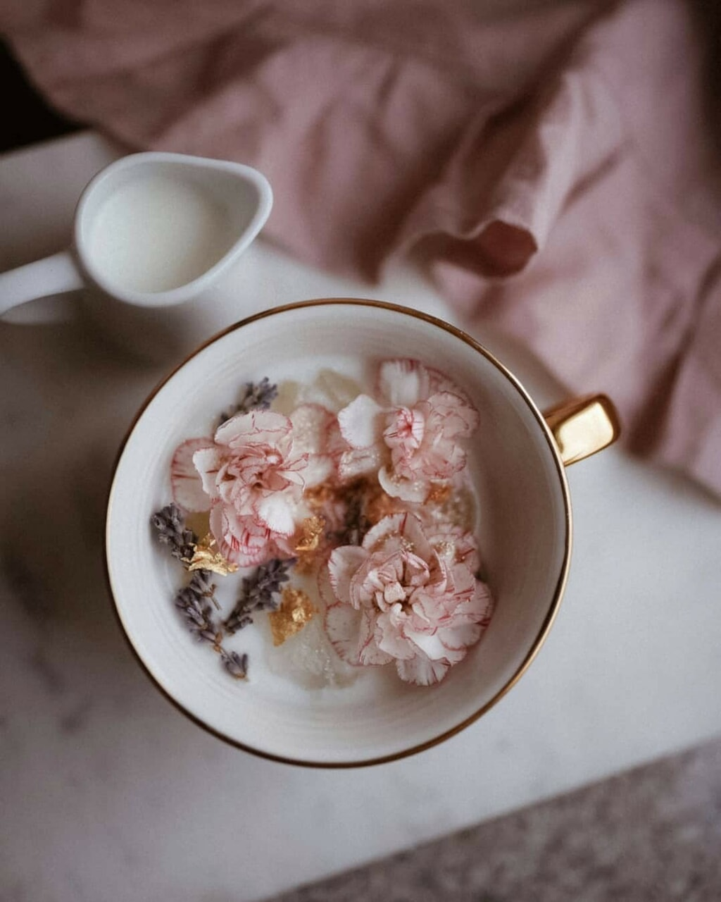 aesthetic, coffee, and floral image