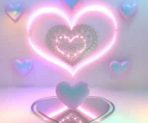pink, aesthetic, and hearts image