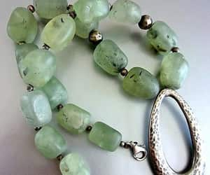 etsy, gemstone necklace, and green necklace image