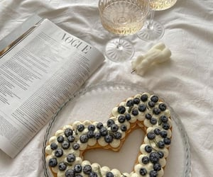 blueberry, cake, and drink image