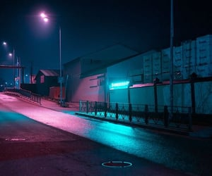 aesthetic, night, and pink image