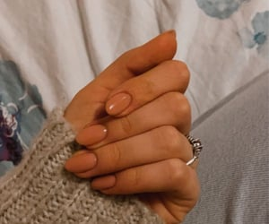 Nude, sweater, and nails image