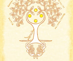 tranquility, celtic, and tree image