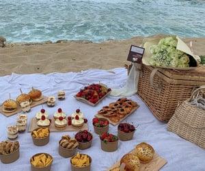 picnic, food, and beach image