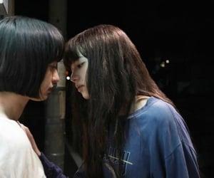 girl, asian, and kiss image