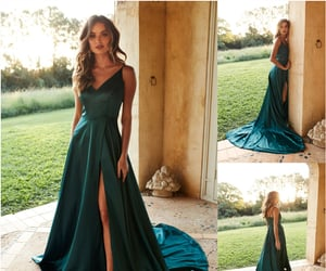 evening dresses, simple prom dresses, and prom dresses image