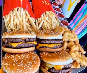 fries, burger, and fast-food image