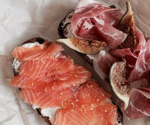 food, salmon, and breakfast image