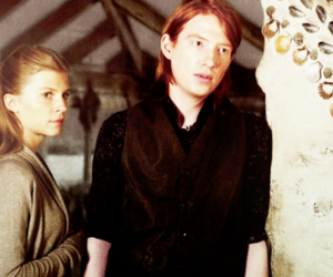 bill weasley, harry potter, and fleur delacour image