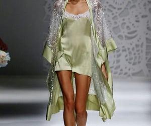 fashion, green, and runway image