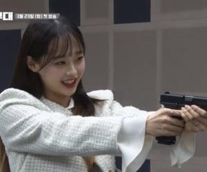 girl, chuu, and gun image