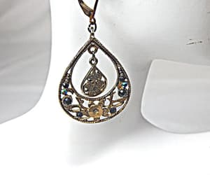 large, blue rhinestone, and gift for her image