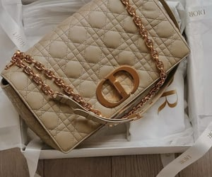 bag, cream, and creamy image