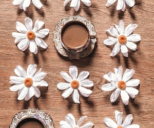 coffee, flowers, and yummy image