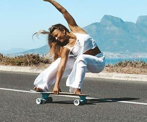 board, girl, and skater image