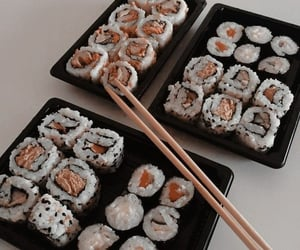 food, sushi, and aesthetic image