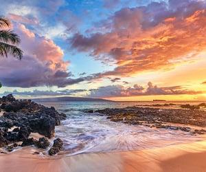 hawaii, secret, and sunset image