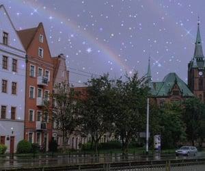 aesthetic, city, and rainbow image