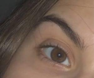 beautiful, brown eye, and dark eyebrows image