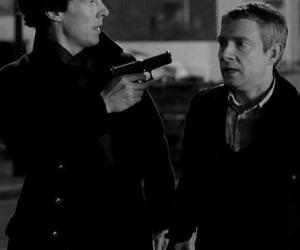 sherlock, gun, and guns image