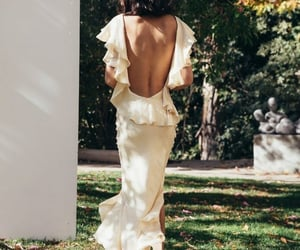 backless, summertime, and woman image