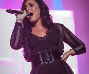 singing, concert, and demi lovato image