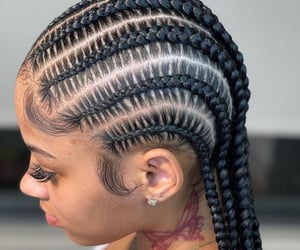 box braids and feed in braids image