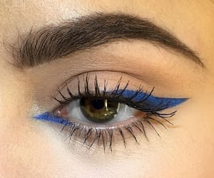 makeup, eyeliner, and blue image