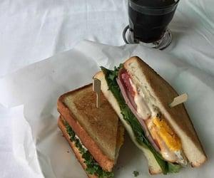 food, sandwich, and breakfast image