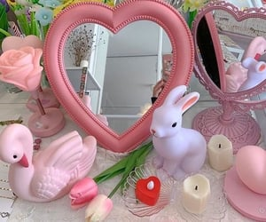 pink, aesthetic, and candles image