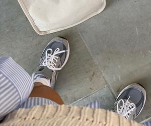 footwear, new balance, and grey sneakers image