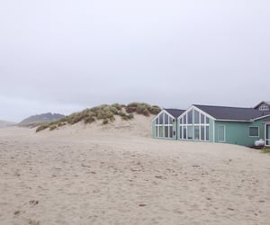 beach, exterior, and house image