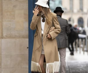 camel, coat, and street style image