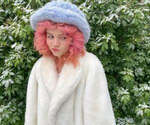 coat, fashion, and hair image