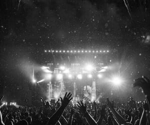aesthetic, black and white, and crowd image