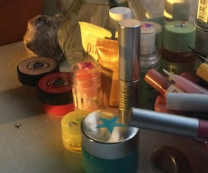 clutter, crystals, and dresser image