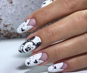 black nails, girl things, and girls beauty image