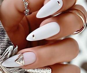 art, nail art, and white nails image